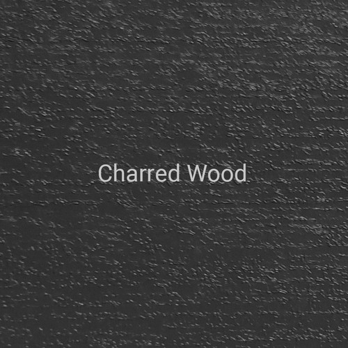 Charred Wood - A textured finish designed to look like charred wood by Bridger Steel.