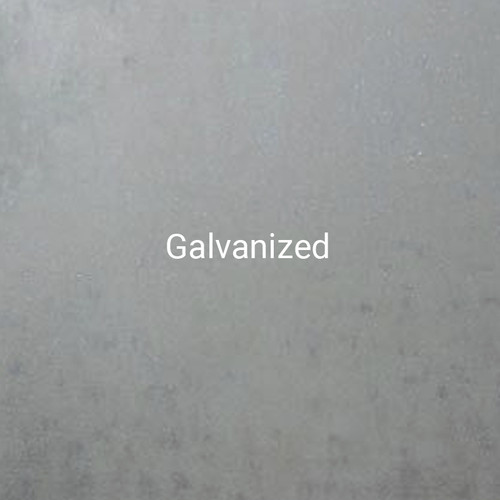 Galvanized - The traditional spangled steel, with a bright metallic finish by Bridger Steel.