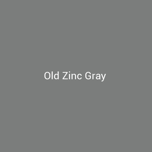 Old Zinc Gray - A dark gray metal finish by Bridger Steel for interior and exterior applications.