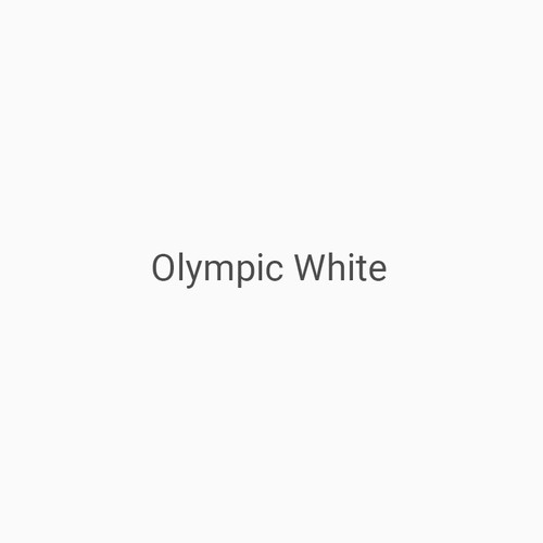Olympic White - A white finish by Bridger Steel for interior or exterior applications.