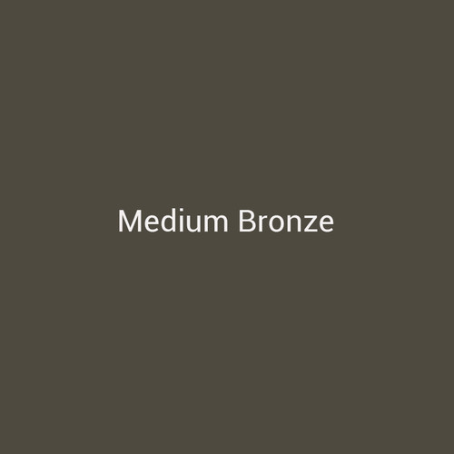 Medium Bronze - A dark brown metal finish by Bridger Steel for interior and exterior applications.