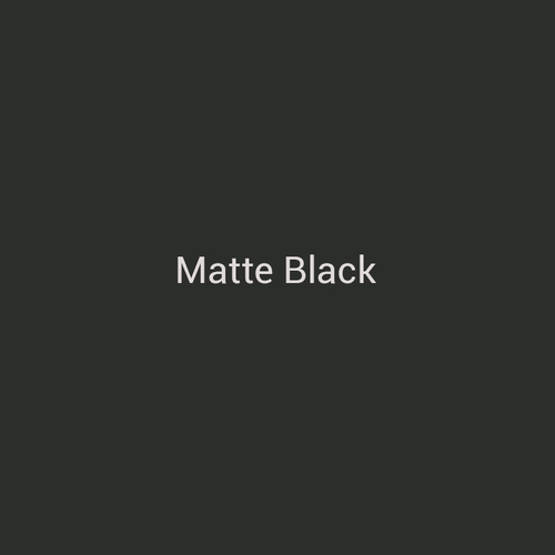 Matte Black - A traditional black finish without the shine by Bridger Steel.