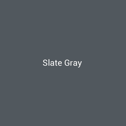Slate Gray - A dark gray metal finish by Bridger Steel for interior and exterior applications.