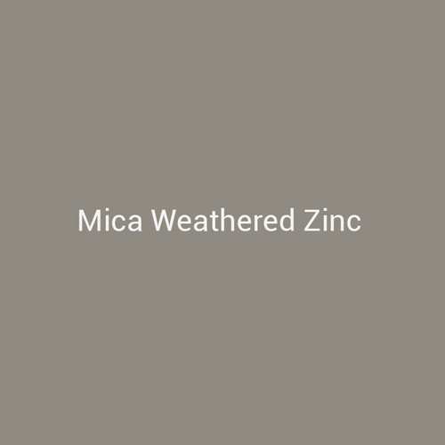 Mica Weathered Zinc - A  tan metal finish by Bridger Steel for interior and exterior applications.