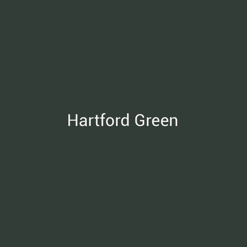 Hartford Green - A dark green finish by Bridger Steel for interior and exterior applications.
