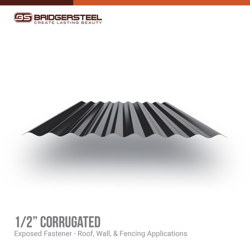 "Our 1/2"" Corrugated Panel gives you true versatility for your next project."