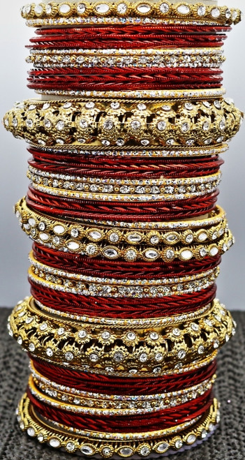 Maroon Bangle set, buy online now. Free Shipping.