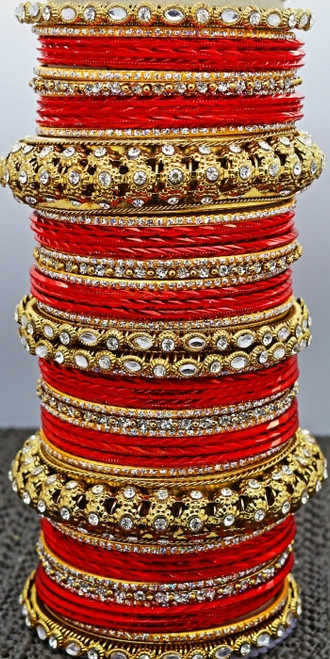 Red Bangle set, buy online now. Free Shipping.