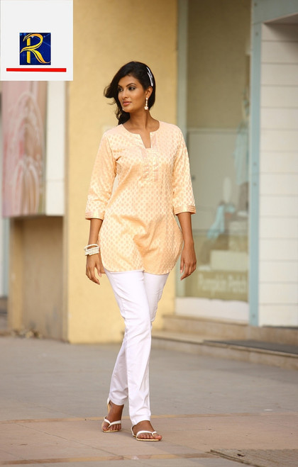 Kurti Top | exclusive designs | Available in Green & Orange | Buy Now