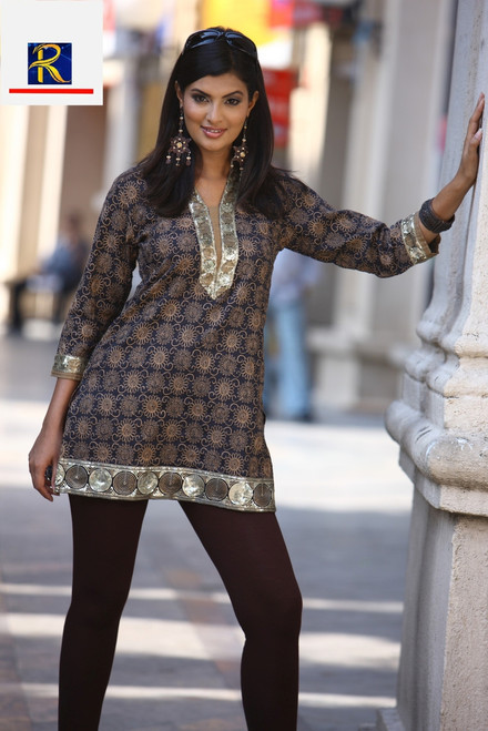 Stunning Black Kurti with Mirror Work | Buy Now | Exclusive Collection