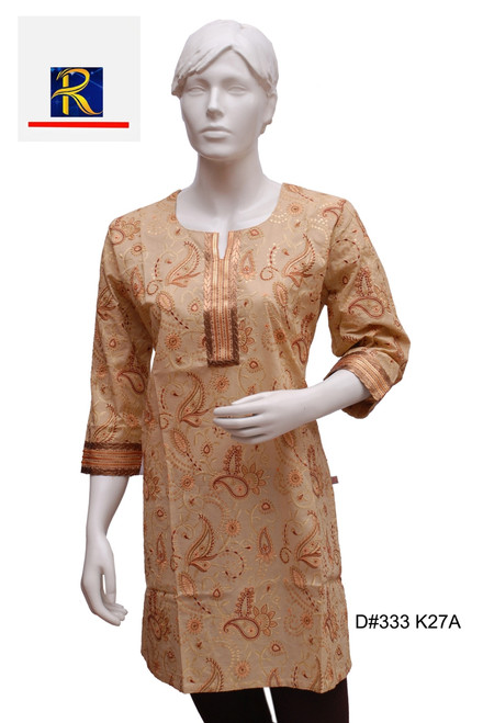 Brown Kurti | enahnced embrodiery | sequin artwork | Buy Now