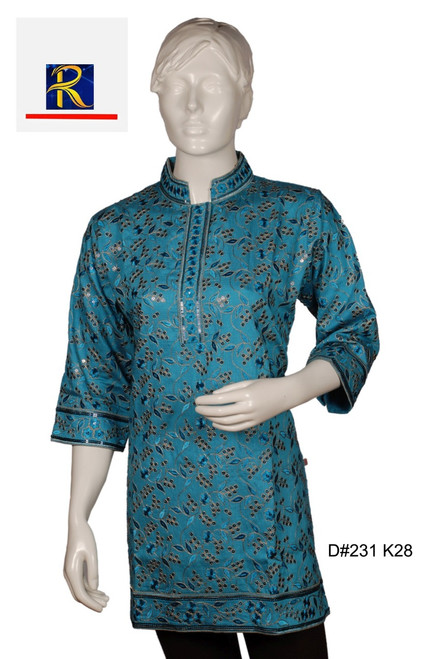 Blue Kurti | Full embrodiery Work | Elegant piece | Buy Now