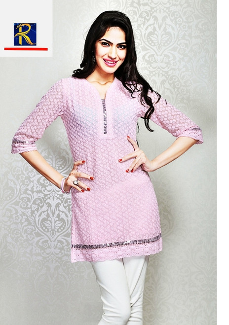 Classic Pink Kurti   Available in these colours: White, Blue, Pink & Yellow   Buy Now