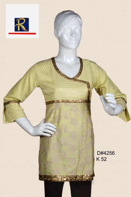 Classic light Yellow Kurti   Available in Pink colour as well   Buy Now