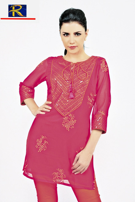 Full Embroidery Work | Available in Blue  or Red | Buy now