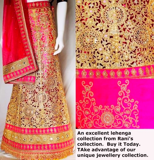 Buy Now | Cut work Pink Lehenga Choli Set | Pink Dupatta & Pink Blouse Piece | Semi Stitched  | Blouse is not stitched