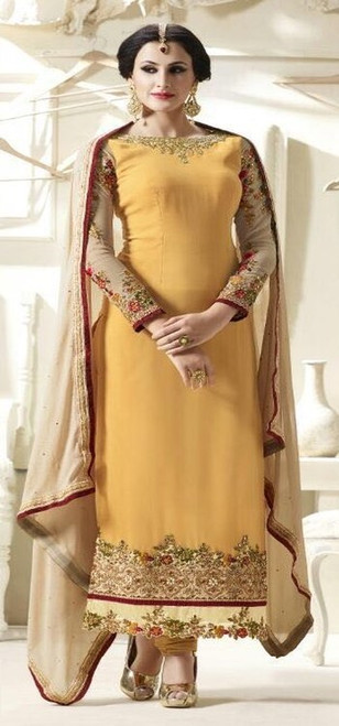 Yellow Salwar Suits Melbourne Australia - BDBR