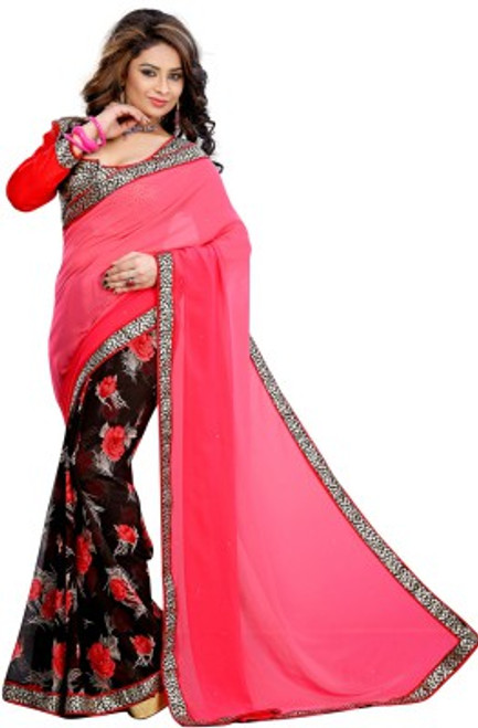 Exclusive Sari piece.  Extremely light weight material, includes a designer blouse piece for that stunning look