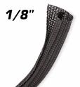 """Split Braid Sleaving 3mm (1/8"""") Black"""