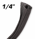 """Split Braid Sleaving 6mm (1/4"""") Black"""
