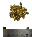 Small Brass U Splice Terminal - 100 Pack - non-insulated