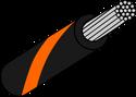 Wire Mil Spec M22759/32 Black with Orange Stripe 22AWG Wire