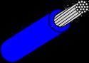 Wire Mil Spec M22759/32 Blue 22AWG Wire