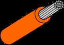 Wire Mil Spec M22759/32 Orange 18AWG Wire