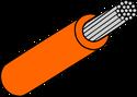 Wire Mil Spec M22759/32 Orange 22AWG Wire