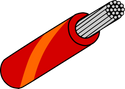 Wire Mil Spec M22759/32 Red with Orange Stripe 22AWG Wire