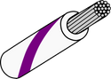 Wire Mil Spec M22759/32 White with Violet Stripe 22AWG Wire