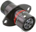 Autosport 6-Way Bulkhead Connector with Sockets - Red