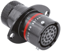 Autosport 22-Way Bulkhead Connector with Sockets - Red