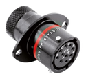 Autosport 10-Way Bulkhead Connector with Sockets - Red