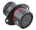 Autosport 37-Way Bulkhead Connector with Sockets - Red
