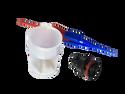 Souriau 604-06SN 6-Way Plug with Sockets - Red