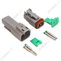 Deutsch DT 2-Way Connector Kit with Solid Contacts
