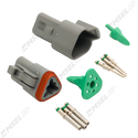 Deutsch DT 3-Way Connector Kit with Solid Contacts