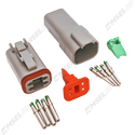 Deutsch DT 4-Way Connector Kit with Solid Contacts