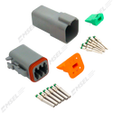 Deutsch DT 6-Way Connector Kit with Solid Contacts