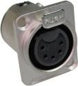 XLR Connector 5 Pin Panel Socket