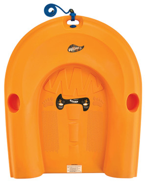 Orange WGWAG * Top View * Comfortable Standing Platform * Texture Underfoot For Security * Operating Instructions Graphic On Deck * Tether Rope For Balance * Leg Pockets Either Side For Off-Season Storage