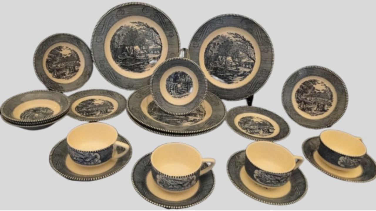 Royal China Currier Ives  Vintage Collectible Dinnerware Replacements