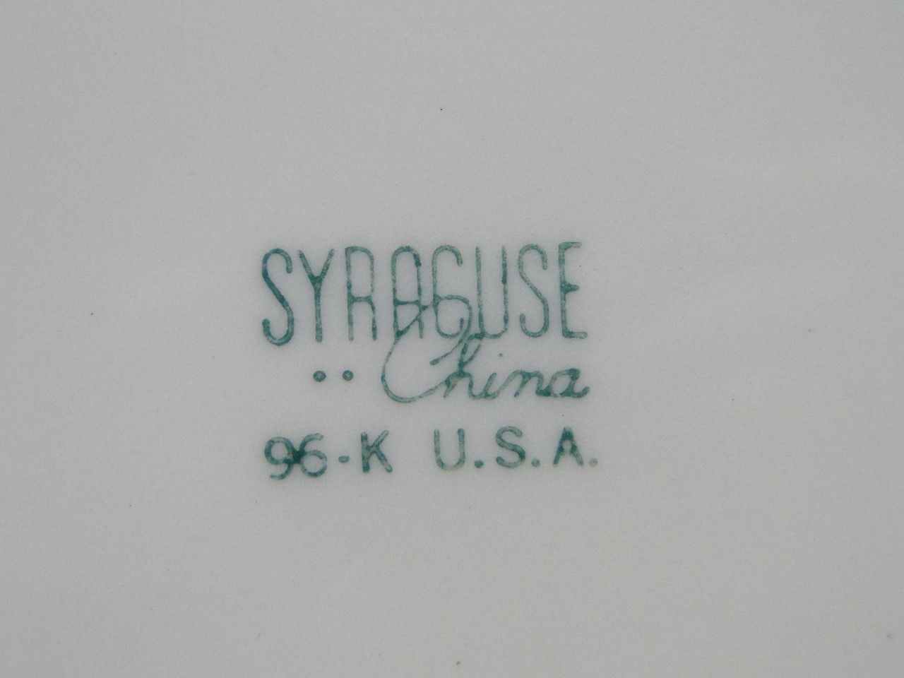 Syracuse China Restaurant and Transportation Ware