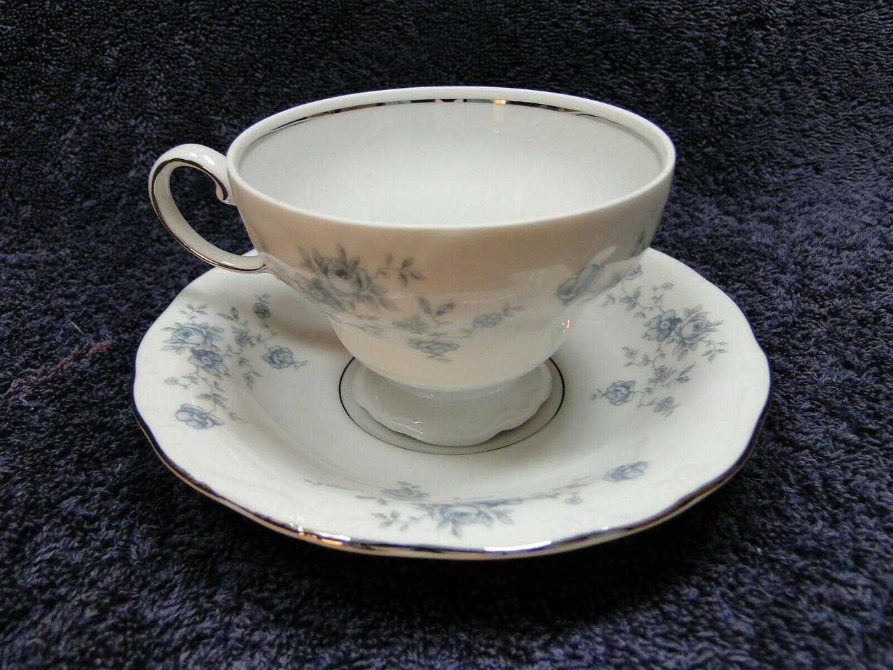 Johann Haviland Bavaria BLUE GARLAND Tea Cup /& Saucer Set Fine China