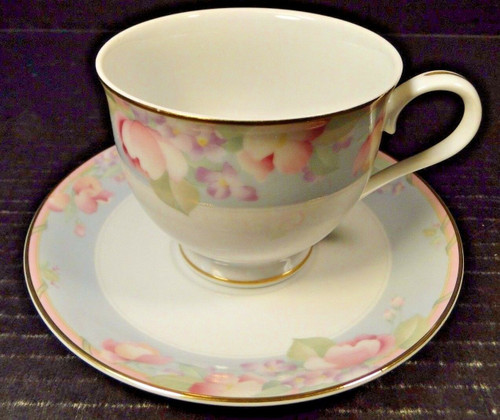 Mikasa Braemar Footed Tea Cup Saucer Set L2031 | DR Vintage Dinnerware and Replacements