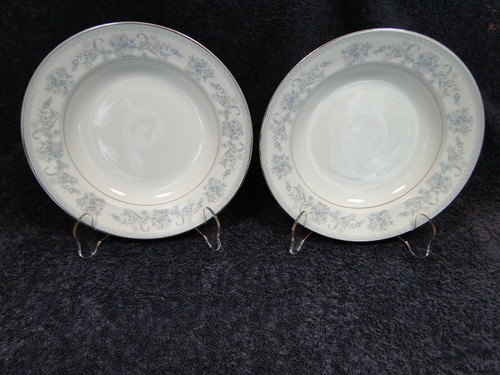 """Mikasa Dresden Rose Soup Bowls L9009 8 3/8"""" Pasta Salad Set of 2 
