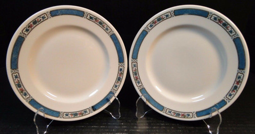 "Lamberton Scammell Salad Plates 7 3/4"" Pennsylvania Railroad Set of 2 