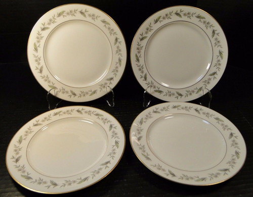 "Royal Jackson Bridal Wreath Salad Plates 8"" Set of 4 
