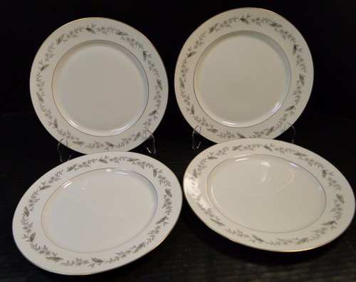 "Royal Jackson Bridal Wreath Dinner Plates 10 1/4"" Set of 4 